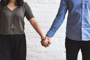 couple, together, holding hands