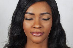 eyes, closed, makeup
