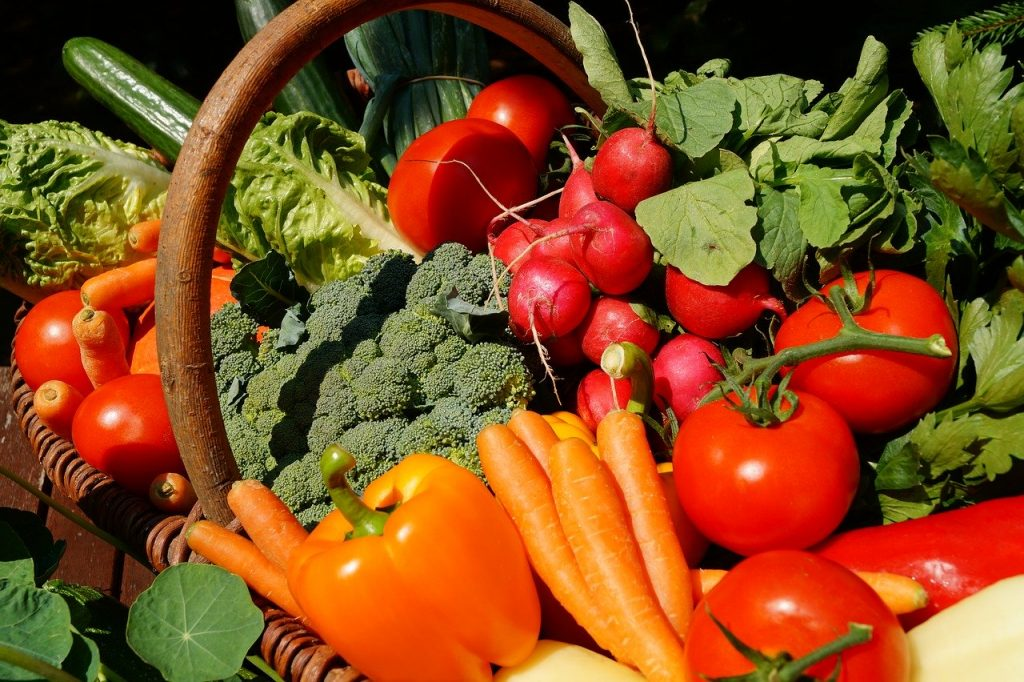 vegetables, vegetarian, tomatoes